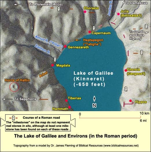 The Lake of Galilee and Environs