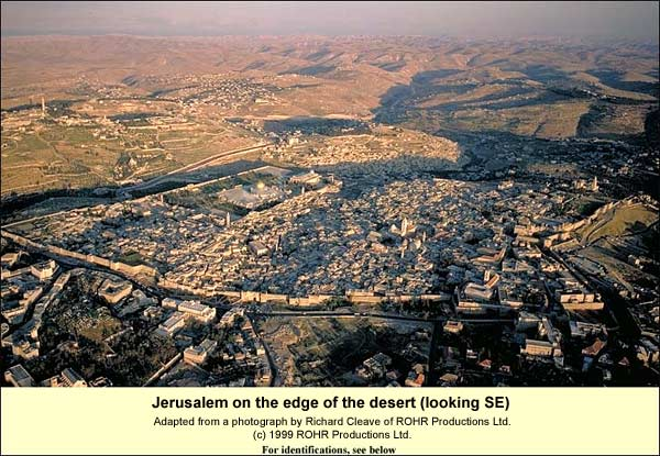 Jerusalem on the edge of the desert (looking SE)